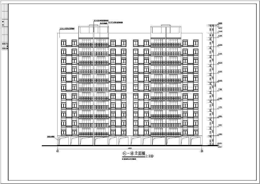 平安小区高层住宅楼建筑设计图,含效果图
