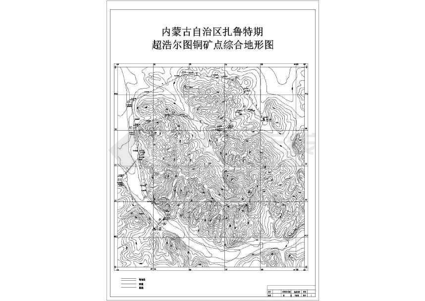 【内蒙古】二级公路平面图及断面图设计(含方案比选)