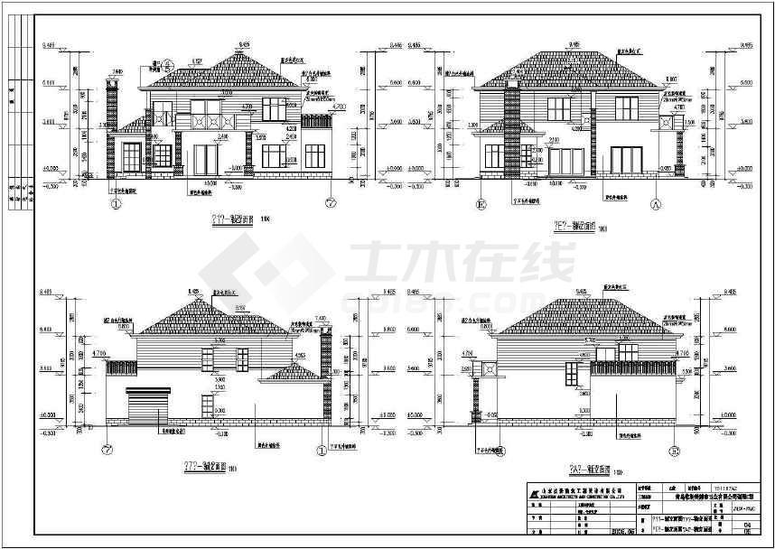二层独栋别墅建筑设计施工图(含效果图)-图2