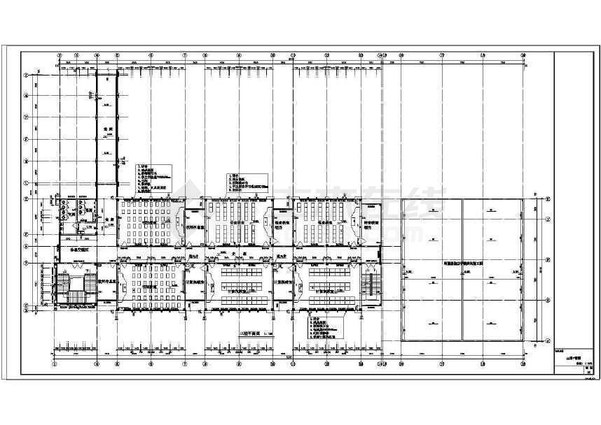 某4层阶梯教室及专业教室建筑图 框架结构图片