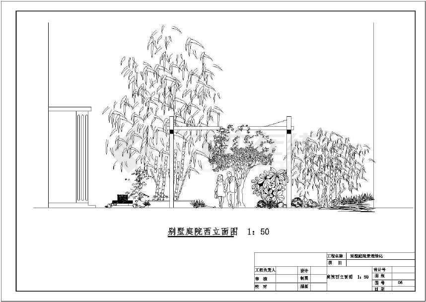 工程图纸园林绿化图纸设计施工别墅获取c庭院舰图片