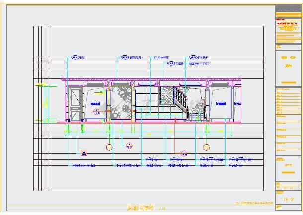 长沙某三层含地下室图纸装修施工CAD别墅下死有的卡图纸会图片