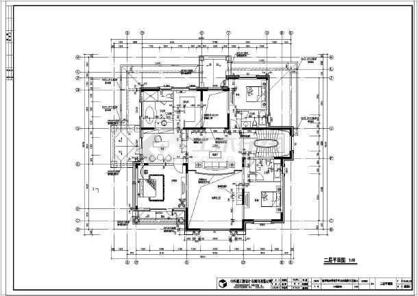 二层独栋住宅别墅建筑设计施工图纸