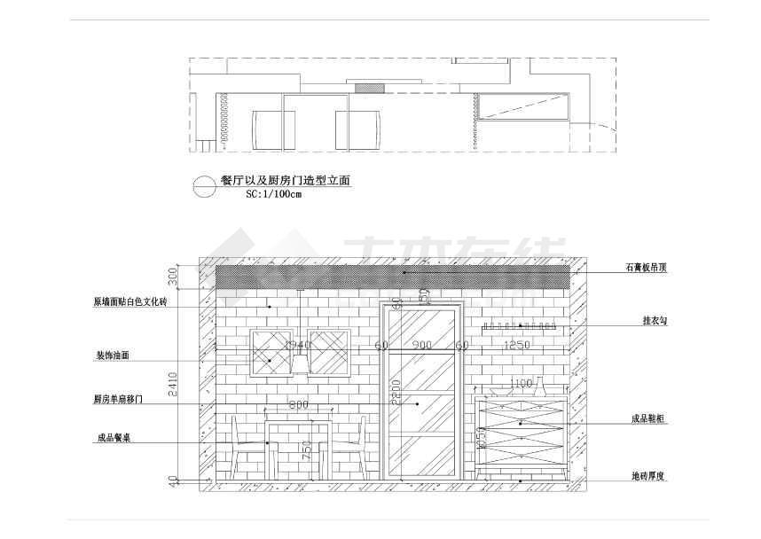 过道造型立面图,卫生间干区造型,书房储藏柜,主卧衣柜内部,主卧床头
