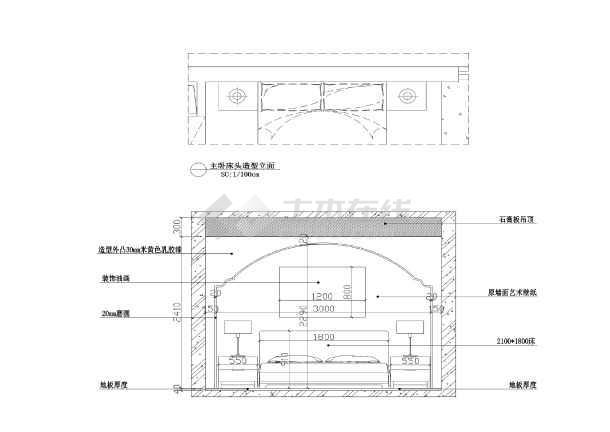 【湖北】孝感市孝柴小区欧式田园风格100平3室2厅1厨1卫套房装修图-图