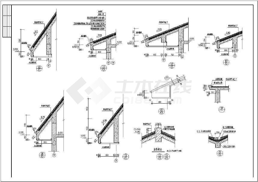 三层带阁楼框架结构别墅建筑设计施工图