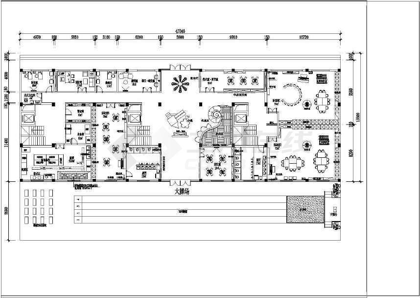 潮阳某幼儿园装修平面设计方案cad图纸(两个方案)