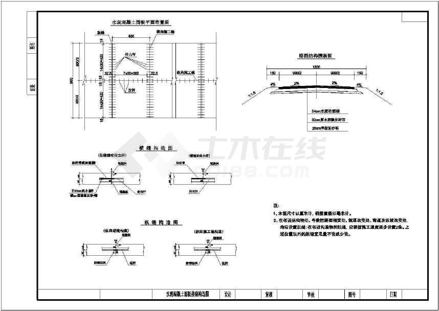 道路工程路基路面防护工程通用设计图