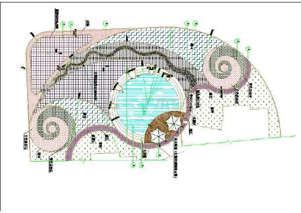 小区绿化节点手绘图