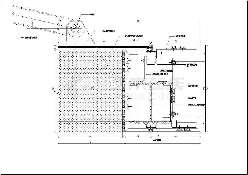 某拉杆玻璃雨棚参考做法节点设计详图
