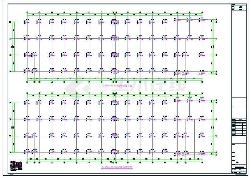 地上四层框架结构车间厂房结构施工图
