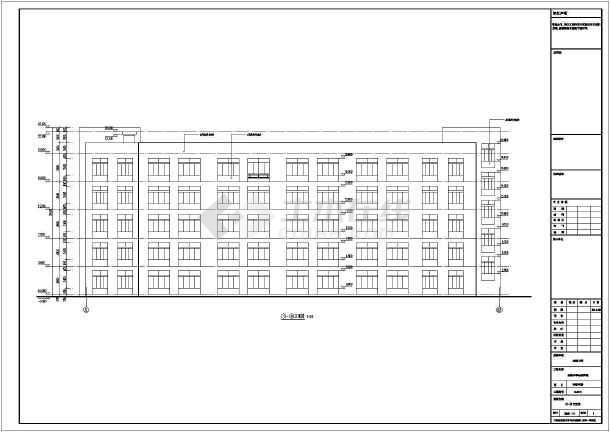 质保图纸 结构设计施工图 框架结构施工图 幼儿园/教学楼 五层框架