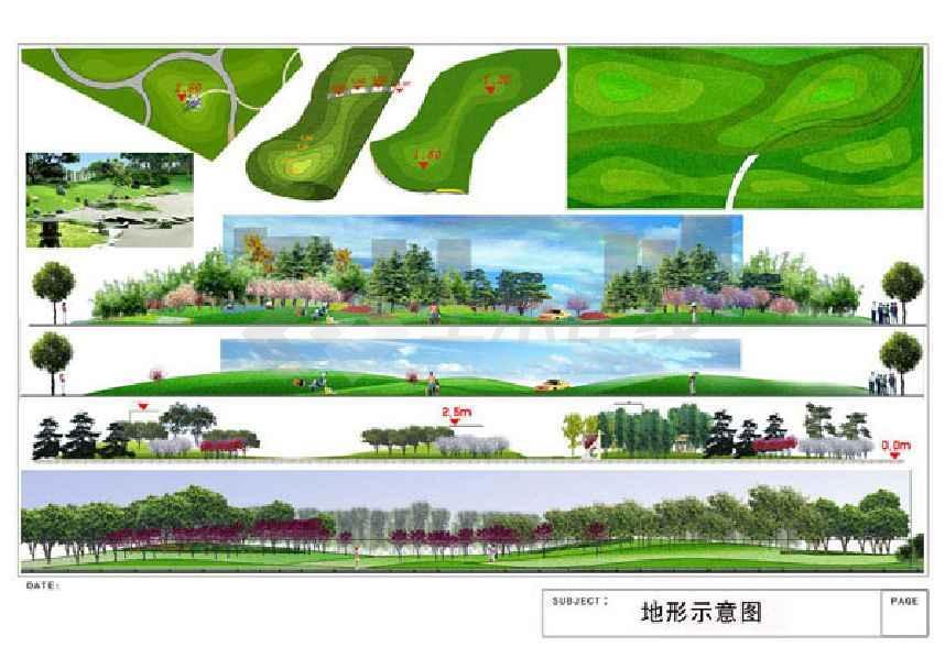 设计内容包括总平面图;植物种植剖面图;植物配置表