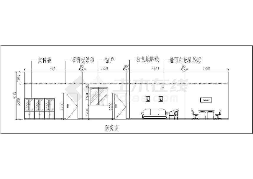 省某地区一座幼儿园装修设计(平面,立面)施工图纸
