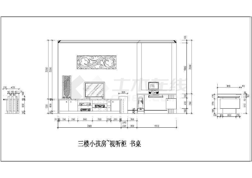 某三层别墅全套装修平面设计方案图纸