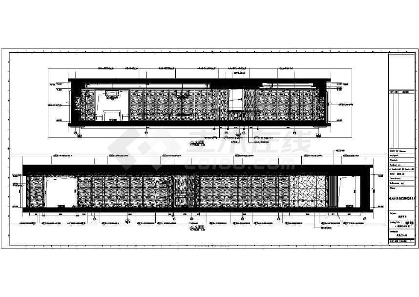 【上海】超豪华大户型酒店式公寓室内装修设计施工图