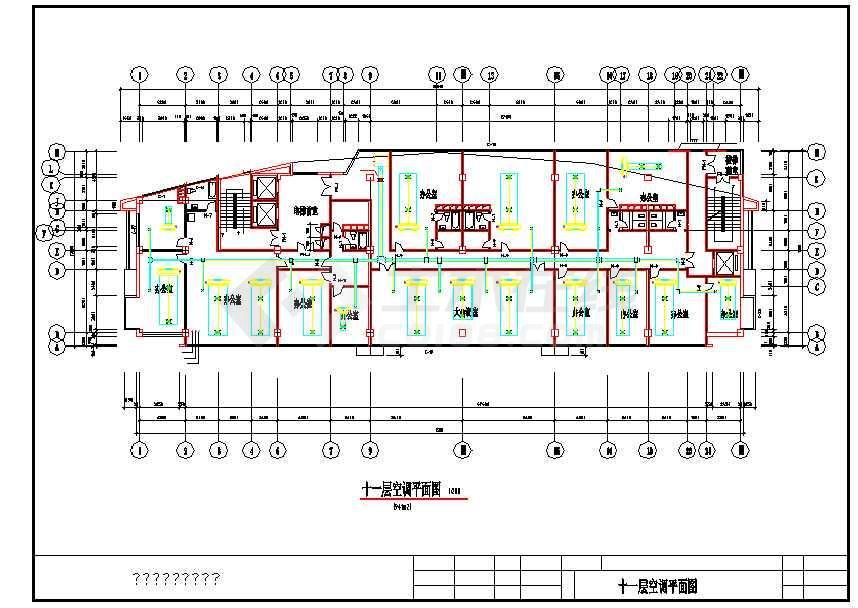多层商业综合楼建筑全年性空调系统设计施工图图片