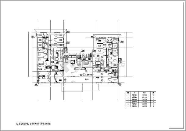 【山东】公共厕所空调通风系统初步设计图(暗藏式多联图片