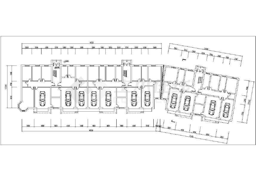 住宅楼及沿街店铺店面建筑方案设计