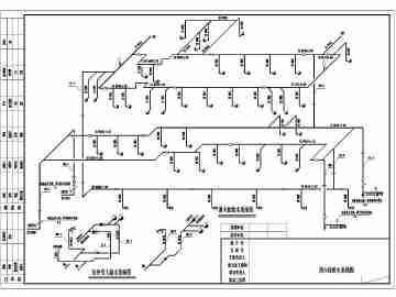 【四川】上万平地下三层岛式站台车站给排水图纸