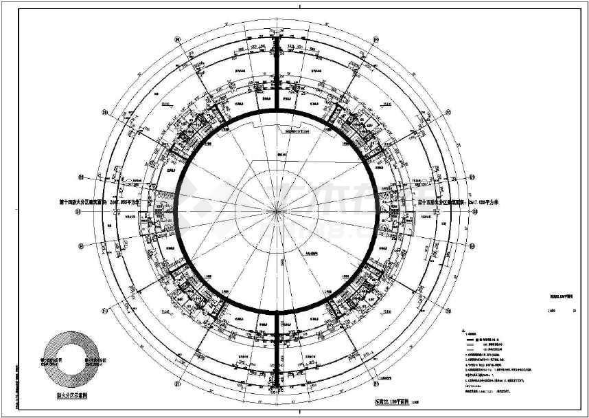 【河南】圆形高层文化演艺中心建筑设计施工图