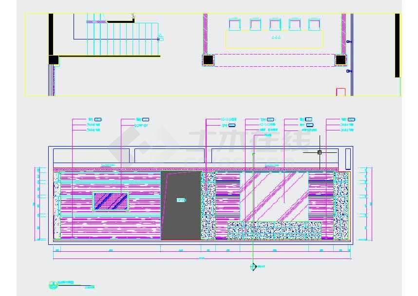 售楼处大堂室内装修施工图 附实景高清图片