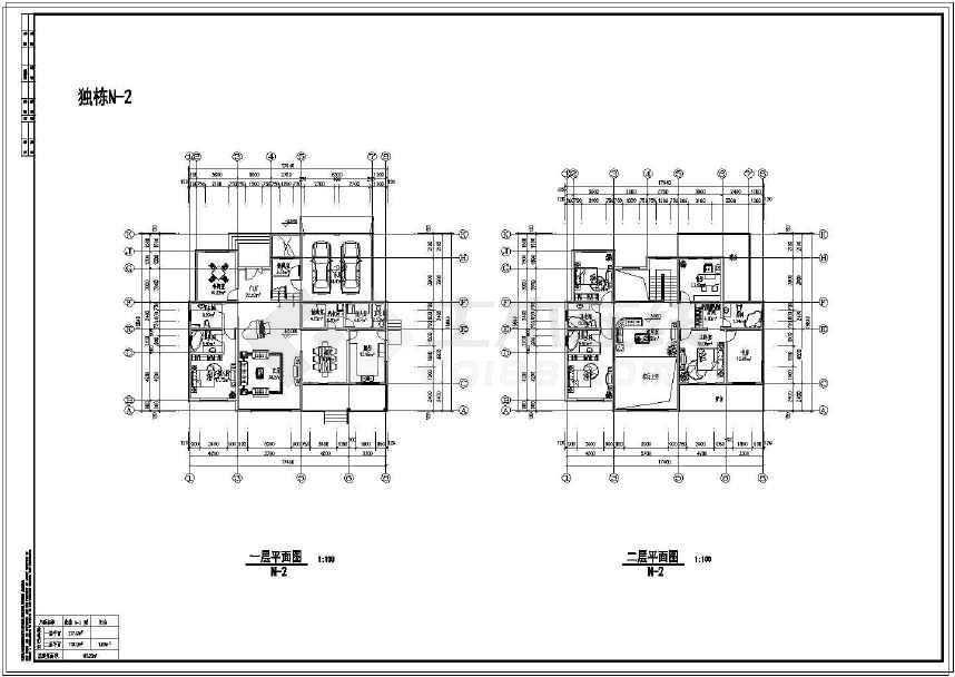 多类精美实用的别墅平、立面设计图-图1