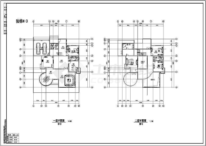 多类精美实用的别墅平、立面设计图-图2