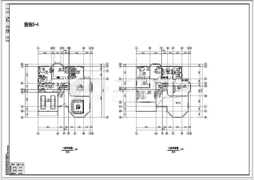 多类精美实用的别墅平、立面设计图-图3