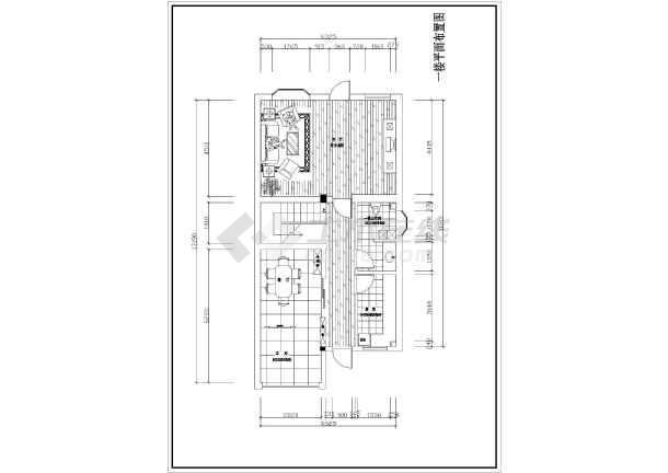 室内装饰装修设计图纸,图纸包含一至三楼的原始结构图和平面设计图,平