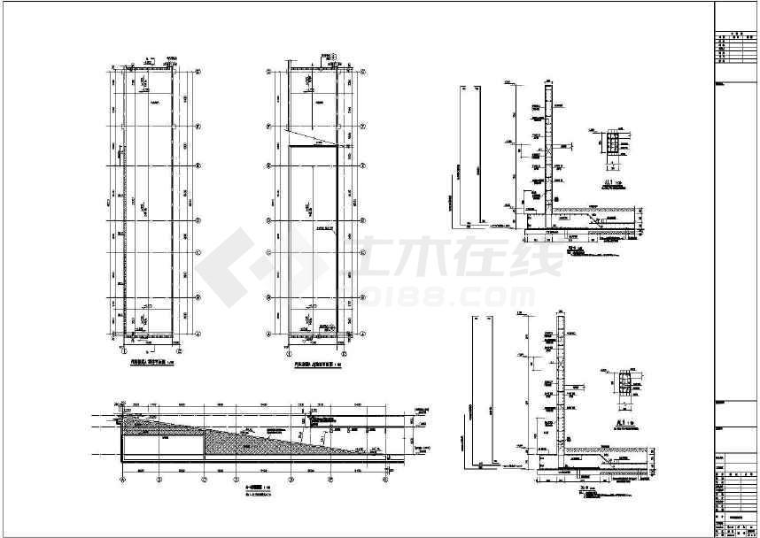 【山东】地下一层框架结构车库结构施工图