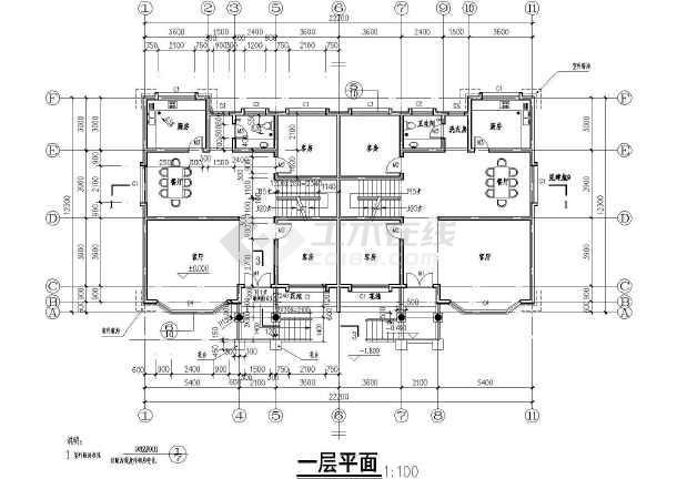 【济宁】旅游区二层别墅乡村楼下载施工图建筑十里常德别墅区营图片