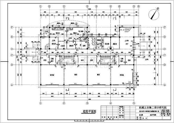 三层钢筋混凝土幼儿园建筑设计施工图