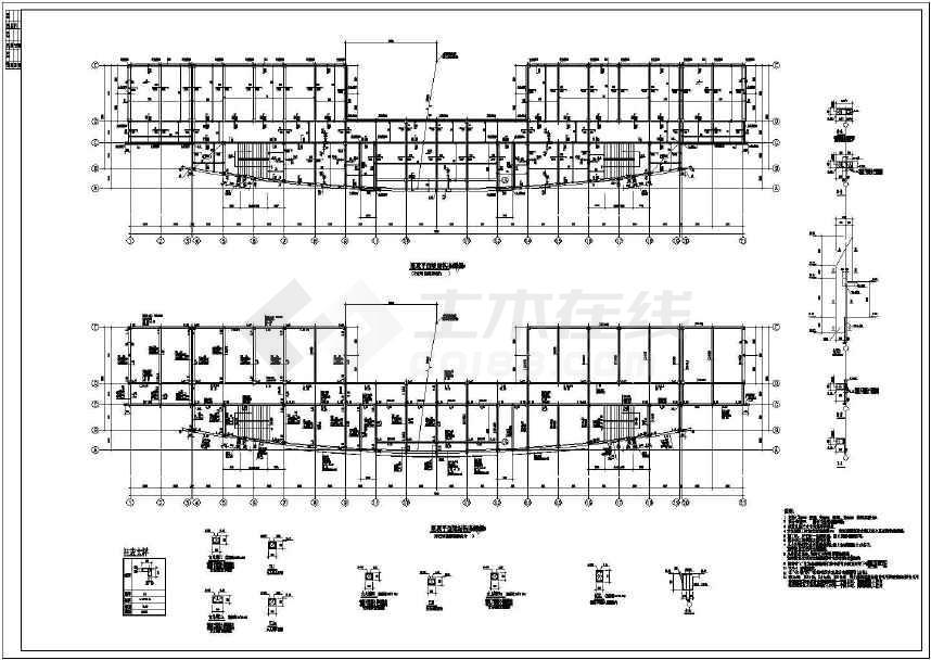 图纸 建筑结构图  框架结构图纸  框架结构幼儿园  某地小学教学楼