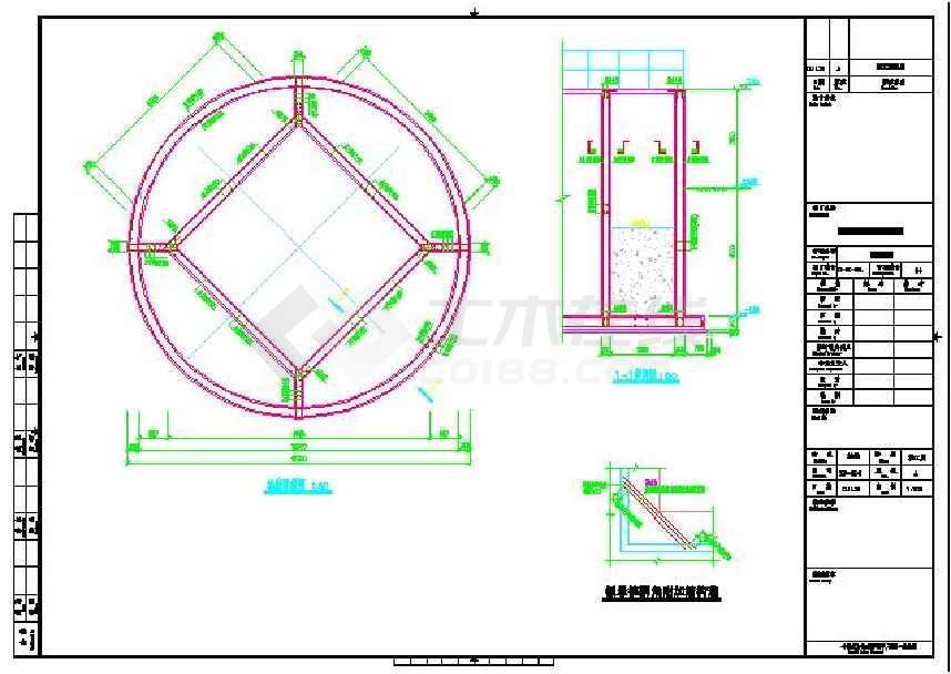 某地污水处理厂配水井结构设计施工图下载视觉传达包装设计理念图片