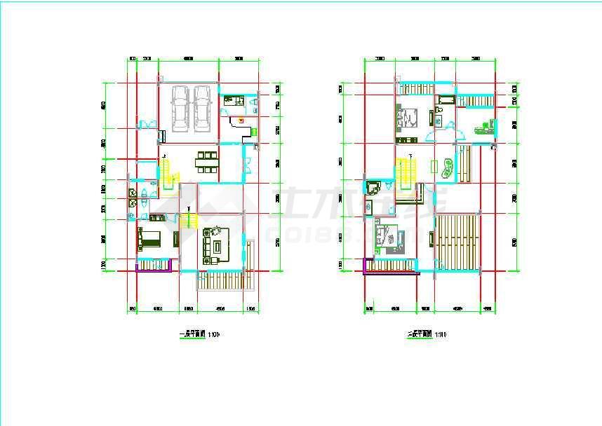 各种农村小别墅户型平面方案设计图
