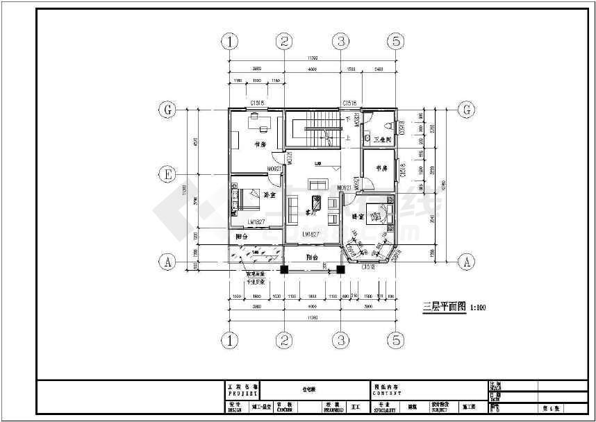 3层半独栋别墅建筑、结构设计施工图-图3