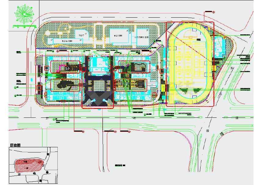 校园景观设计施工图 目录:一