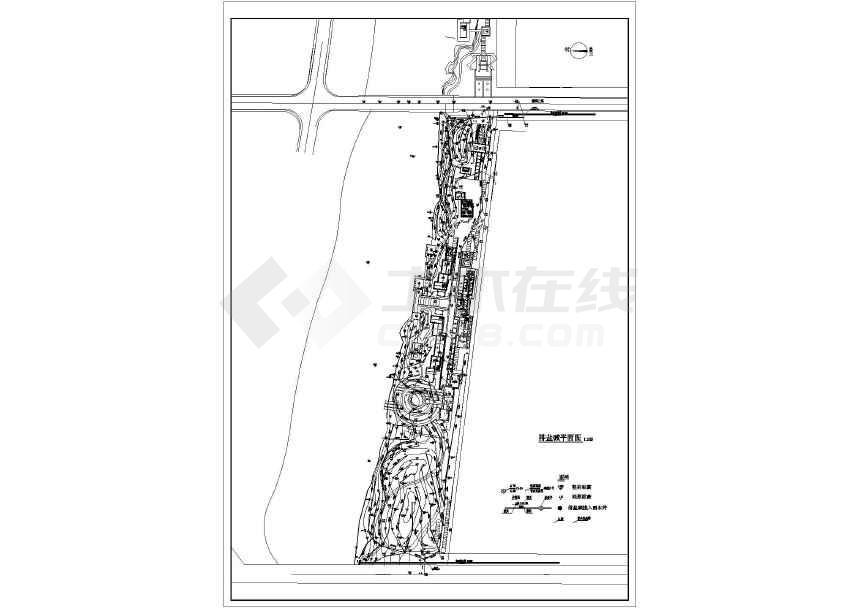 排管道盐碱公园设计详细cad施工工艺下载图纸广场cad图片