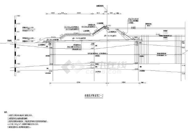 质保图纸 水利水电工程设计图 其他 【福建】码头陆域堆场及驳岸施工