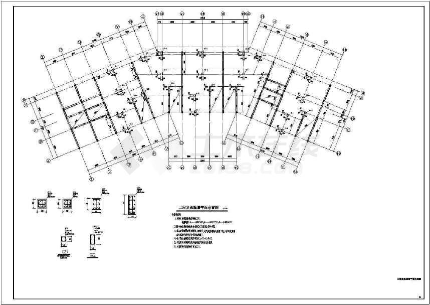 8户4层砖混民房建筑 结构施工图