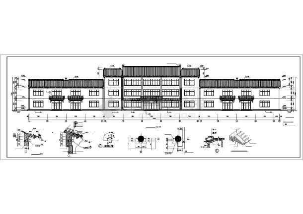 本设计图包含大型仿古建筑的平面图,立面图,剖面图,屋面图,可供