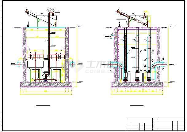 某污水提升泵房工艺图及结构设计图