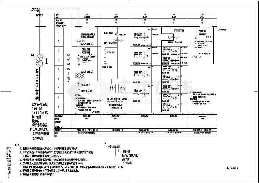变配电图纸完整图纸施工设计工程(2015年设计H4388电气图片