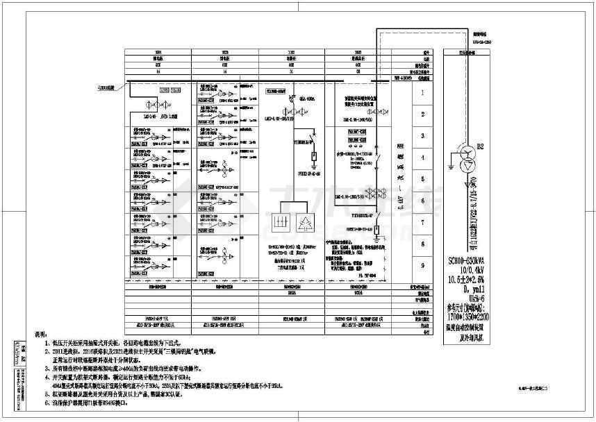 变设计图纸完整图纸配电设计电梯(2015年施工板绳电气工程头图片