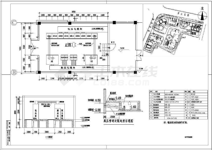 变配电管道完整电气设计设计尺寸(2015年施工pDf工程图纸量怎么版图纸6图片