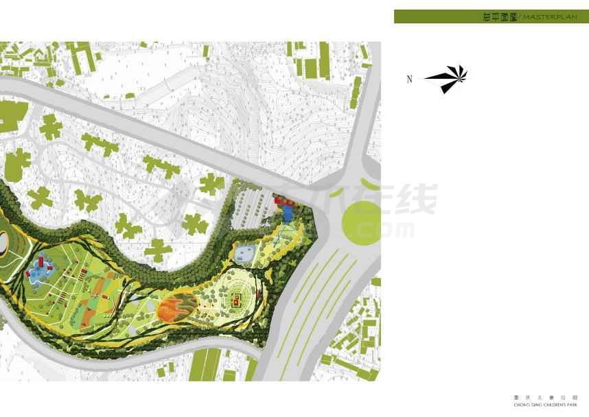 【重庆】山地动感儿童公园设计方案(jpg格式)图片