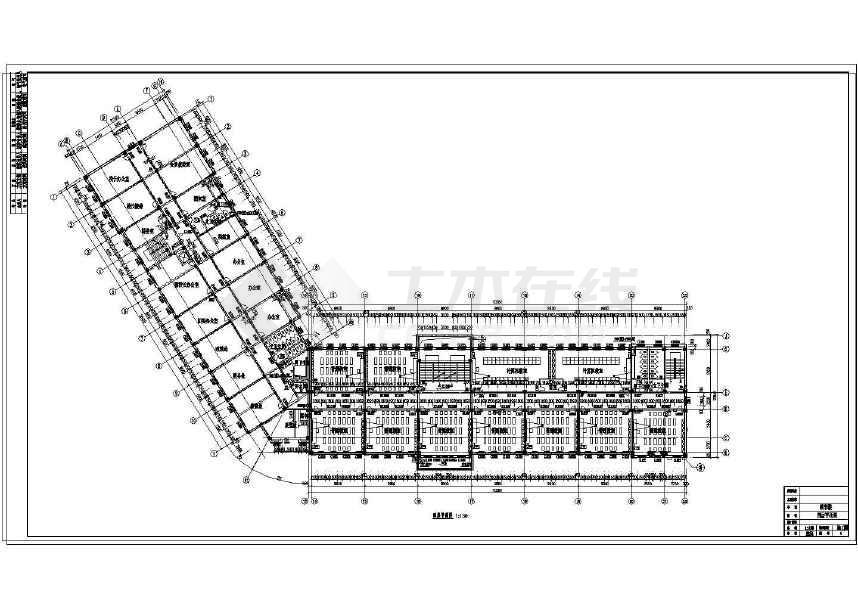 某地五层中小型中学建筑设计平面图下载 土木在线图片