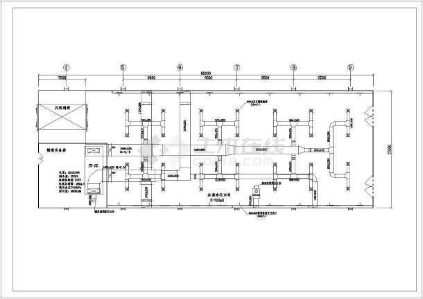 资料为汽车车间洁净空调设计施工图,图纸包括空调平面图,系统