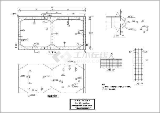 2-4x3.6m钢筋混凝土箱涵设计施工图_cad图纸下载-土木